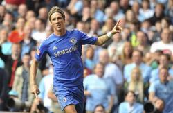 Fernando Torres celebra su gol en la Community Shield. | EFE