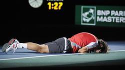 Ferrer, emopcionado nada más lograr la victoria en París.   EFE