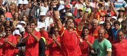 Ferrer celebra su victoria ante Isner. | EFE