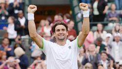 David Ferrer celebra su trabajada victoria ante Alexander Dolgopolov. | EFE