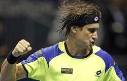 David Ferrer celebra un punto ante Jerzy Janowicz. | EFE