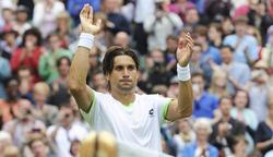 David Ferrer celebra su victoria ante Martín Alund. | EFE