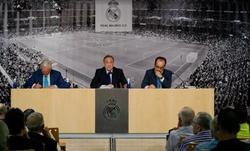 Florentino Pérez, en la asamblea informativa. | realmadrid.com