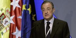 Florentino Pérez, durante la asamblea de socios. | EFE