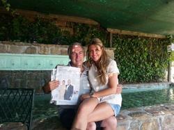 Gonzalo de la Cierva y Patricia Olmedilla en la foto remitida a Carlos Pérez Gimeno