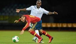 Lance de la segunda semifinal entre España y Francia. | Foto: sefutbol.com