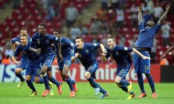 Los jugadores franceses celebran el título. | EFE