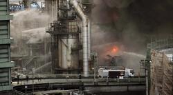 Fuego en la refinería de Repsol   EFE