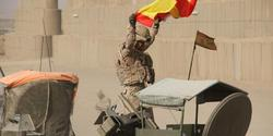 Militares del último convoy de repliegue de Badghis. | EMAD