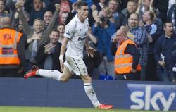 Gareth Bale celebra un gol del Tottenham   Cordon Press