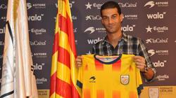 Gerard, en la presentación con la selección catalana. | Foto: Federació Catalana de Futbol