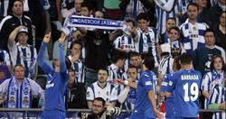 Pedro León celebra su gol a la Real Sociedad. | EFE