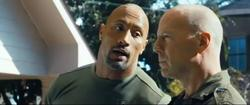 Dwayne Johnson y Bruce Willis en G.I. Joe: La venganza