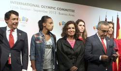 Ignacio González, Ana Botella y Alejandro Blanco, tras la derrota de Madrid 2020. | EFE/Archivo