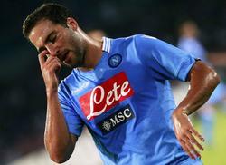 Higuaín, en un partido con el Nápoles. | EFE