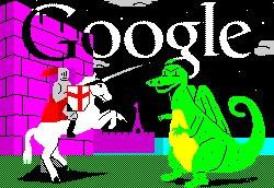 San Jorge y el dragón, versión Google. | Google.co.uk