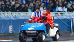 Esteban Granero es retirada en camilla. | Cordon Press