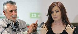 El presidente de la Junta andaluza, José Antonio Griñán, y la de Argentina, Cristina Fernández de Kirchner.
