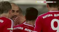 Guardiola dio una bofetada a Thiago durante la Supercopa de Alemania. | Imagen TV