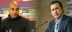 Pep Guardiola y Jorge Valdano.   LD