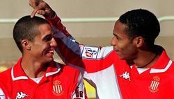 Henry y Trezeguet, durante su etapa en el Mónaco.