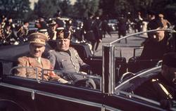 Hitler y Mussolini, durante su reunión en Florencia   Cordon Press