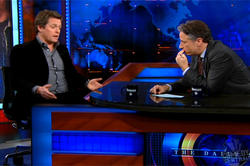 Hugh Grant, en el programa de Jon Stewart