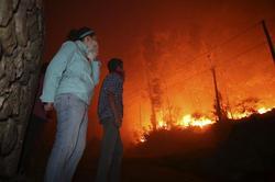 Uno de los incendios de este verano en Galicia | Efe
