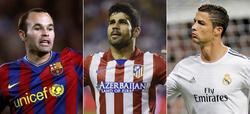 Iniesta, Diego Costa y Cristiano Ronaldo lideraron a Barcelona, Atlético y Real Madrid. | Archivo