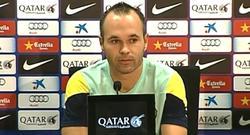 Andrés Iniesta en rueda de prensa.
