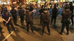 Antidisturbios de la Policía durante una concentración. | Archivo