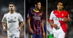 Isco, Neymar y Falcao.   Archivo