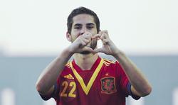 Isco celebra un gol con la selección española sub'21. | EFE