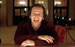 Nicholson en El resplandor, de 1980