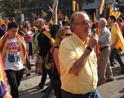 Jaume Roures en la manifestación de la Diada de este año.