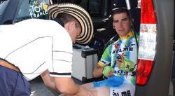 Jesús Manzano, con el equipo Kelme en el Tour 2003. | Cordon Press/Archivo