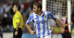 Joaquín celebra un gol con el Málaga. | Archivo