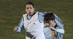 Jordi Alba y Silva, en un entrenamiento de la selección española. | EFE