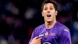 Stevan Jovetic, de la Fiorentina al Manchester City.   Archivo