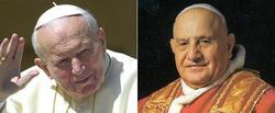 Juan Pablo II y Juan XXIII | LD