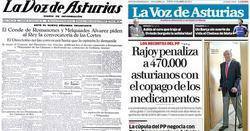 Primera y última portada de La Voz de Asturias. | La Voz de Asturias