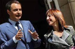 Begoña Lagasabaster, junto a Zapatero | Archivo