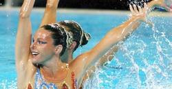 La nadadora Laura López, en primer término.   Archivo