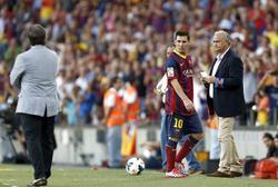 Messi, sustituido en la primera jornada de Liga. | EFE