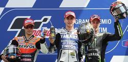 El podio del GP de Italia. | EFE