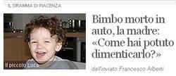 El pequeño Luca   'Corriere della Sera'