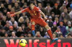 Luis Suárez, autor de cuatro goles y una asistencia contra el Norwich.   Cordon Press