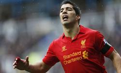 Suárez, con la camiseta del Liverpool