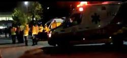 Ambulancia y operarios del Samur en el Madrid Arena.