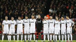 Los jugadores del Madrid, antes de comenzar el clásico ante el Barça. | Cordon Press